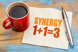 synergy concept on napkin
