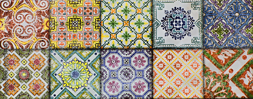 Fototapeta tiled background, texture tiles, mosaic abstract, geometric shapes, abstract illustration