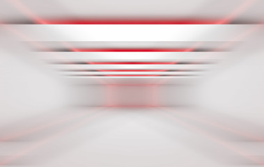 3 dimensional red and white background