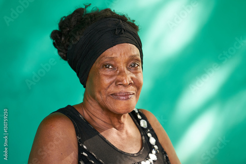 Real People Portrait Happy Elderly African American Woman Poster