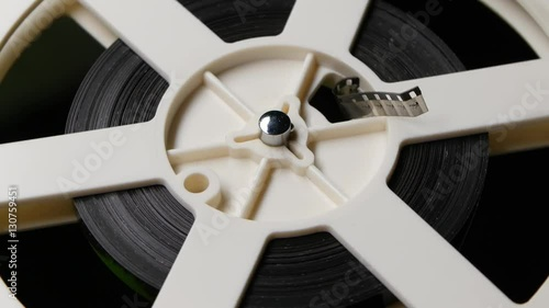 Deurstickers Retro Reel reels off film. Close up