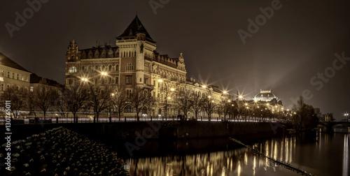 Poster Prag bei Nacht