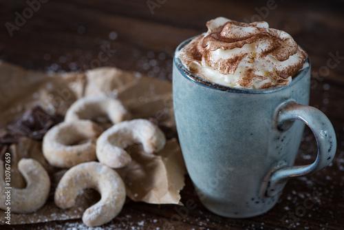 Aluminium Chocolade Heiße Schokolade mit Sahne