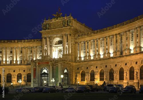 Poster Neue Burg Wing of Hofburg Palace in Vienna. Austria