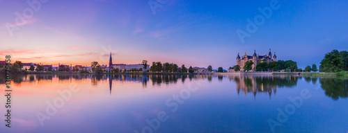 Foto op Canvas Panoramafoto s Schwerin Schloss Panorama