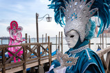 Venice carnival masks at the Grand Canal