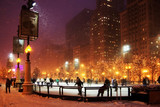 Winter night in Chicago