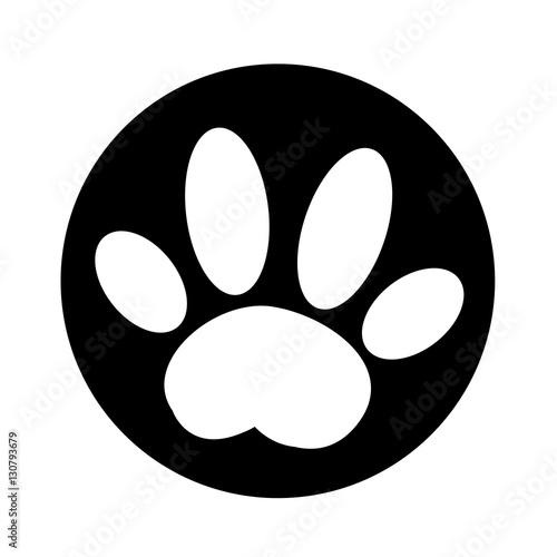 Dog paw Icon illustration design