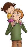 niña con su padre - 130799863