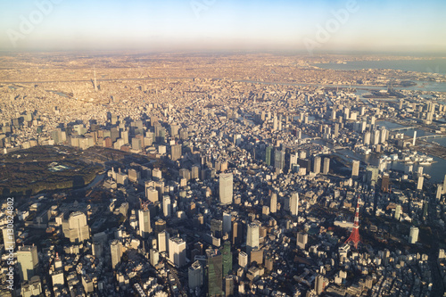Poster Aerial photograph from over Tokyo Japan, 2016/12/17