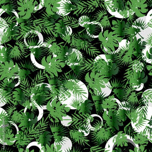 abstraktes-nahtloses-muster-fur-madchen-und-jungen-kreativer-vektorhintergrund-bunte-tapete-mit-grunen-niederlassungfarnen-tropische-anlagen-drucken-sie-exotische-dschungelpflanzpalmblatter-des-sommers