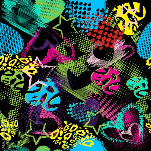 abstract-grunge-muster-kinder-fur-madchen-und-jungen-kreativer-vektor-der-hintergrund-mit-punkten-herzen-linien-sterne-lustige-tapete-fur-gewebe-und-gewebe-modestil-bunt-hell