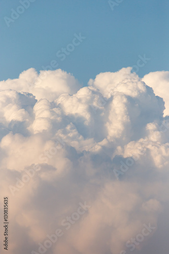 clouds in the sky at sunset Poster