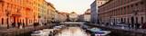 Trieste, Italy. Church of St. Antonio Thaumaturgo with Grand Canal - 130841485
