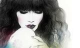 Woman portrait. Fashion illustration. Watercolor painting - 130848097
