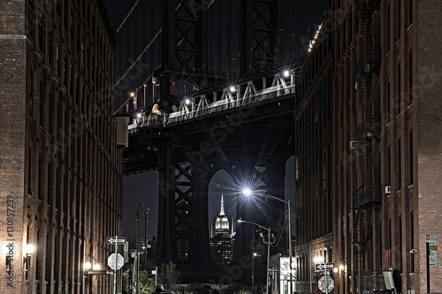 Manhattan Bridge as seen from Dumbo Brooklyn New York