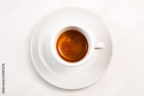 top view a cup of espresso coffee Poster