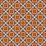 Bright seamless pattern with geometric ornament in Christmas traditional colors. Ethnic and tribal motifs.