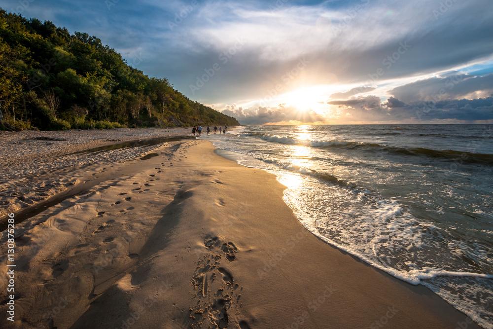 Plakat Zachód Słońca Nad Morzem Bałtyckim Jastrzębia Góra Wally24pl