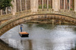 st john college cambridge sights bridge with punting boat