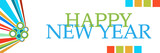 Happy New Year Colorful Graphics Horizontal