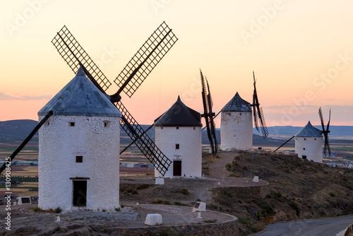 Molinos de viento, Consuegra, España Poster