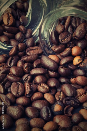 strewn grains of coffee Poster