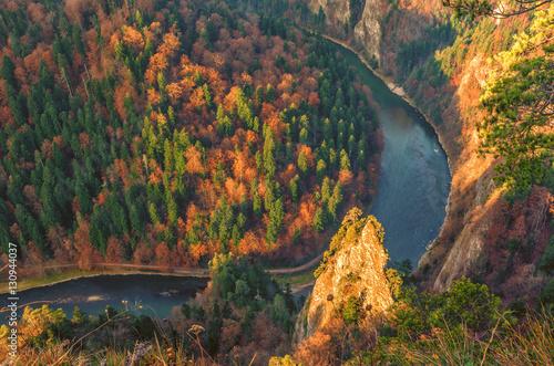 Zdjęcia na płótnie, fototapety na wymiar, obrazy na ścianę : Dunajec gorge in Pieniny mountains, Poland