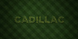 CADILLAC - fresh Grass letters with flowers and dandelions - 3D rendered royalty free stock image. Can be used for online banner ads and direct mailers..