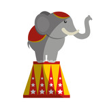 circus elephant isolated icon vector illustration design