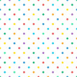 Cotton fabric Seamless colorful polka dot pastel color pattern