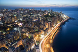 Aerial View of Beirut Lebanon, City of Beirut, Beirut city scape  - 130976067