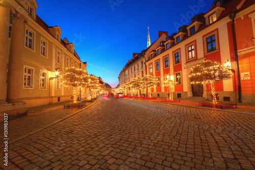 Wieczór na Ostrowie Tumskim Wrocław,Polska.