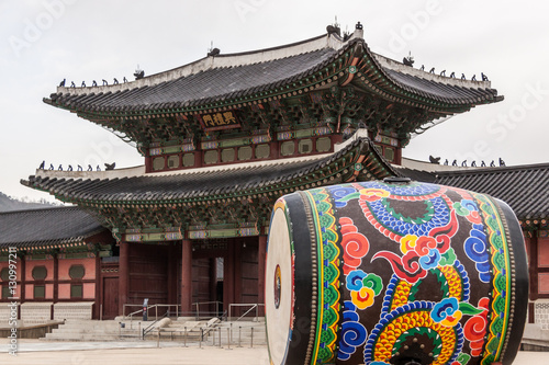 Fotobehang Seoel Gyeongbokgung Palast