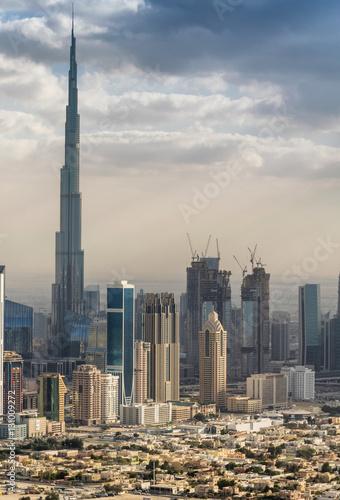Foto op Aluminium Toronto Aerial view of Dubai skyline