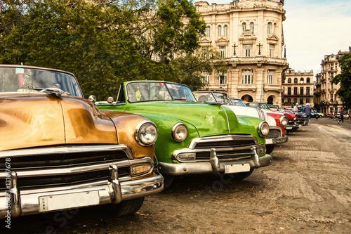 Poster Oldtimer Kuba