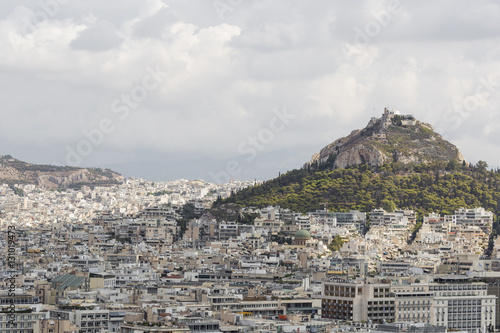 Cityscape of Athens and Lycabettus Hill in the background, Athen