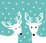 Christmas reindeer couple