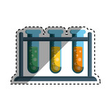 Flask chemistry lab icon vector illustration graphic design