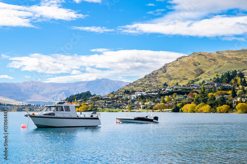 Lake Wakatipu which is located in Queenstown, New Zealand. Poster