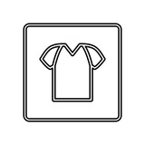Tshirt basic wear icon vector illustration graphic design