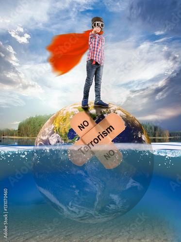 Poster No Terrorism.