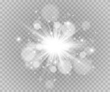 Fototapety Glow light effect. Star burst with sparkles.Sun