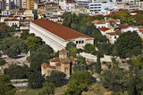 Stoa of Attalos and Church of Sts. Apostoli in Athens. Greece