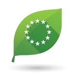 Isolated green leaf with  the EU flag stars - 131119837