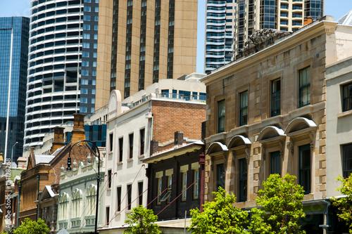 Foto op Canvas Sydney Georges Street Buildings in