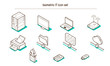 Isometric IT and Computing icon set