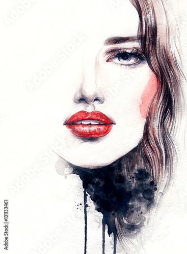 streszczenie-twarz-kobiety-ilustracja-moda-akwarela