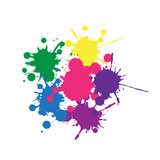 colorful ink blobs  - 131137001