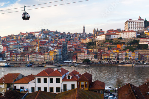 Staande foto Stockholm Amazing view of Porto old town and Duoro river, Portugal.